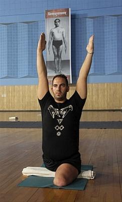 Mark practicing Yoga