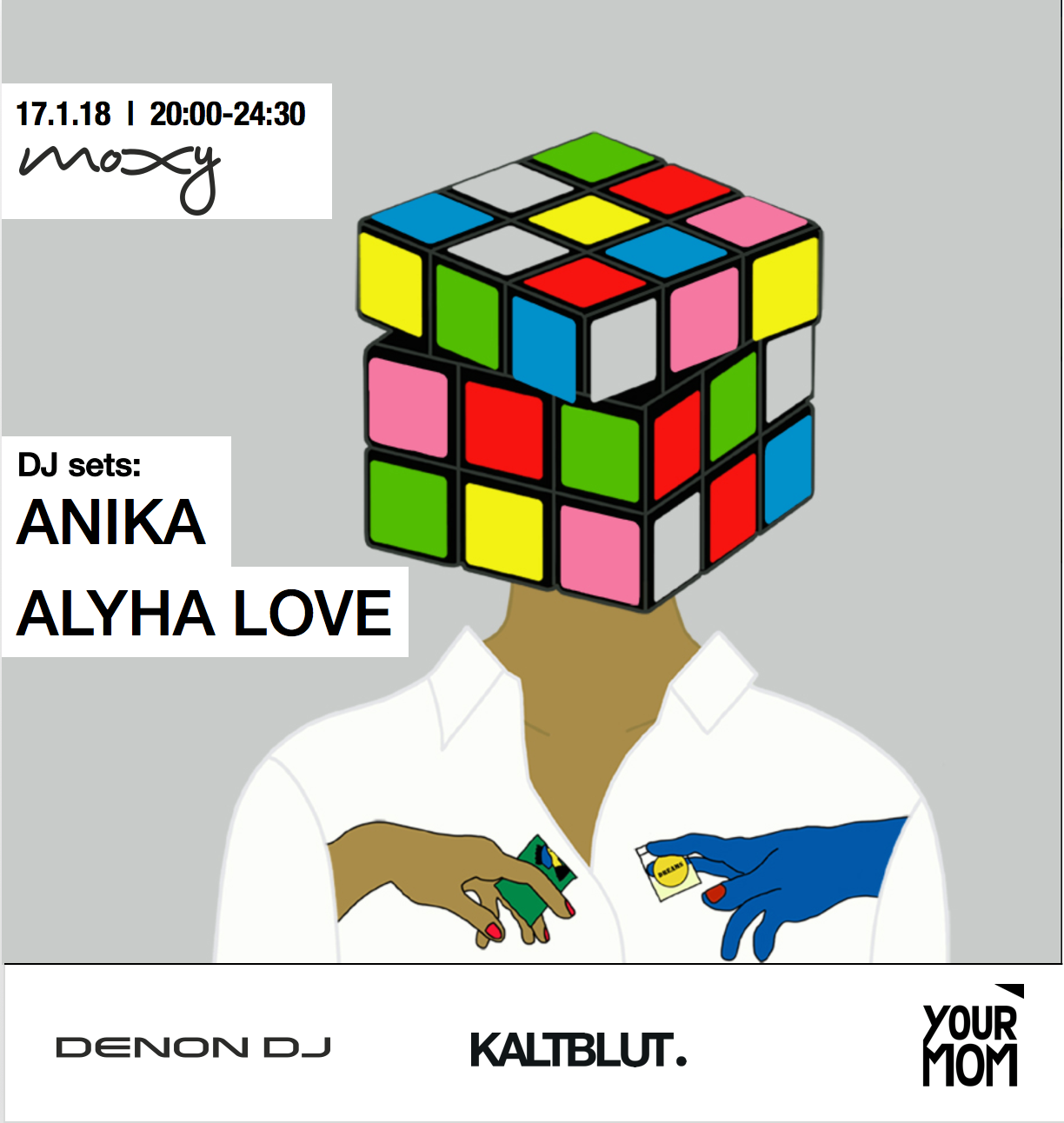 You are invited to  Denon DJ 's Fashion Week evening  #atthemoxy in partnership with  KALTBLUT Magazine .   DJ sets:  Anika (Stones Throw / Invada) & Alyha Love (New World Dysorder)