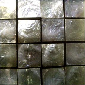 Square Capiz in Natrual over Black