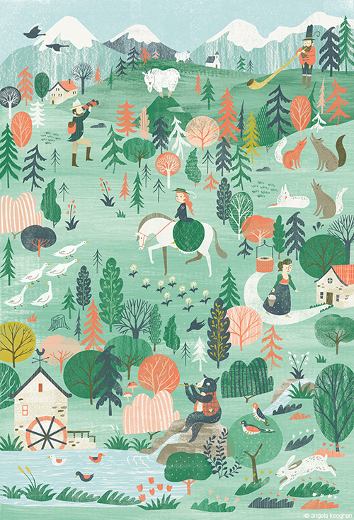 3x3 Picture Book Show - Alpine Landscape, Created for Flow Weekly - Merit Award Winner