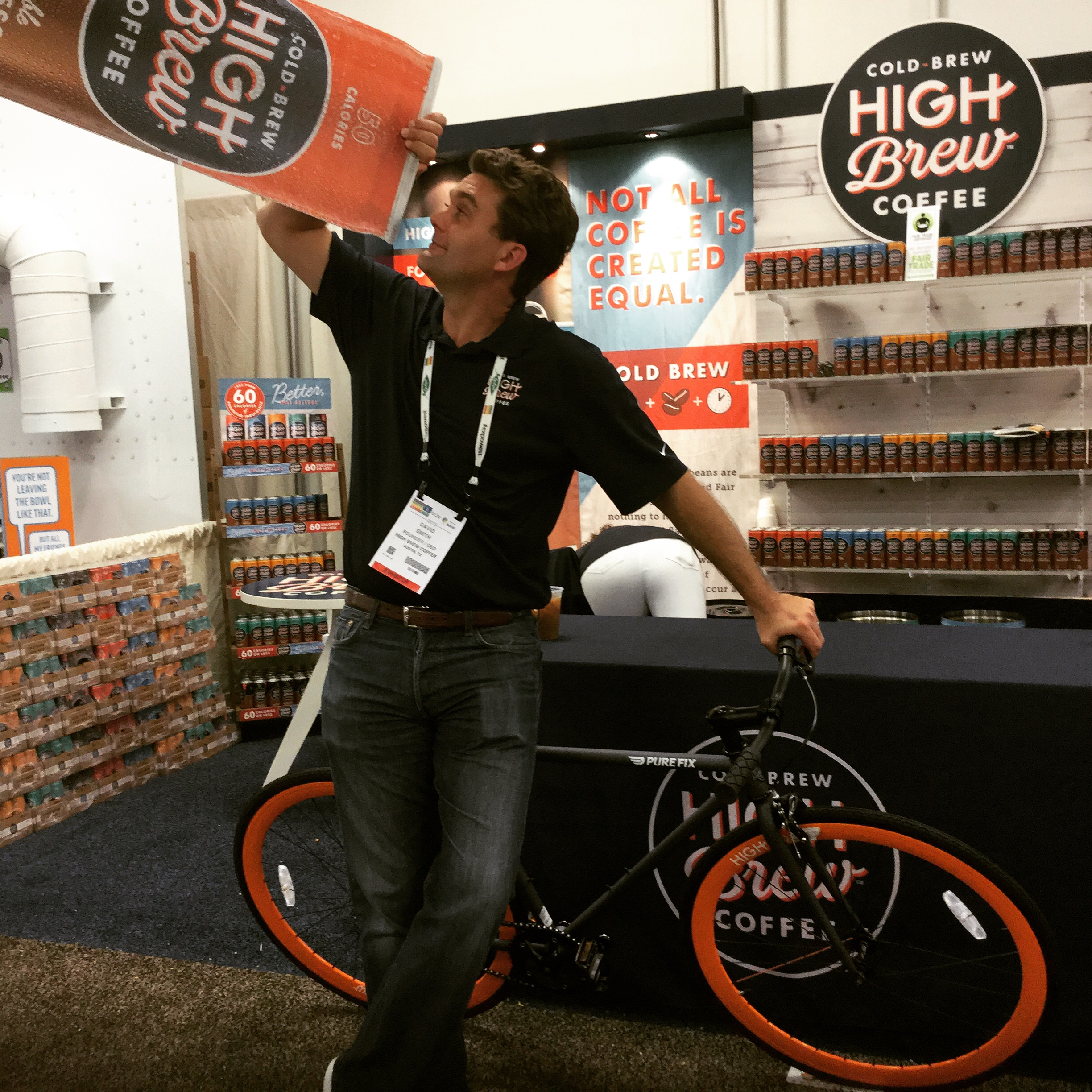 high brew founder with pure fix branded bike