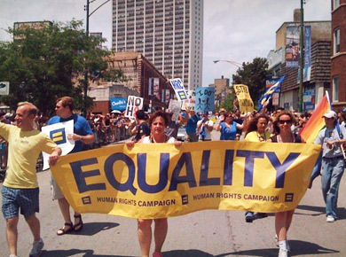 The Human Rights Campaign is the largest civil rights organization working to achieve equality for lesbian, gay, bisexual, transgender and queer Americans.