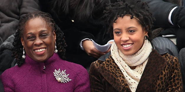 First Lady Chirlane McCray and daughter. (Getty)