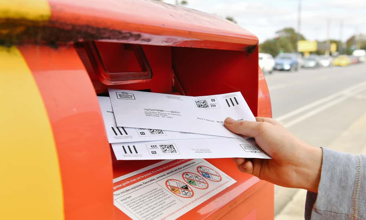 The yes campaign has urged young voters to return their marriage survey forms. Photograph: Morgan Sette/AAP