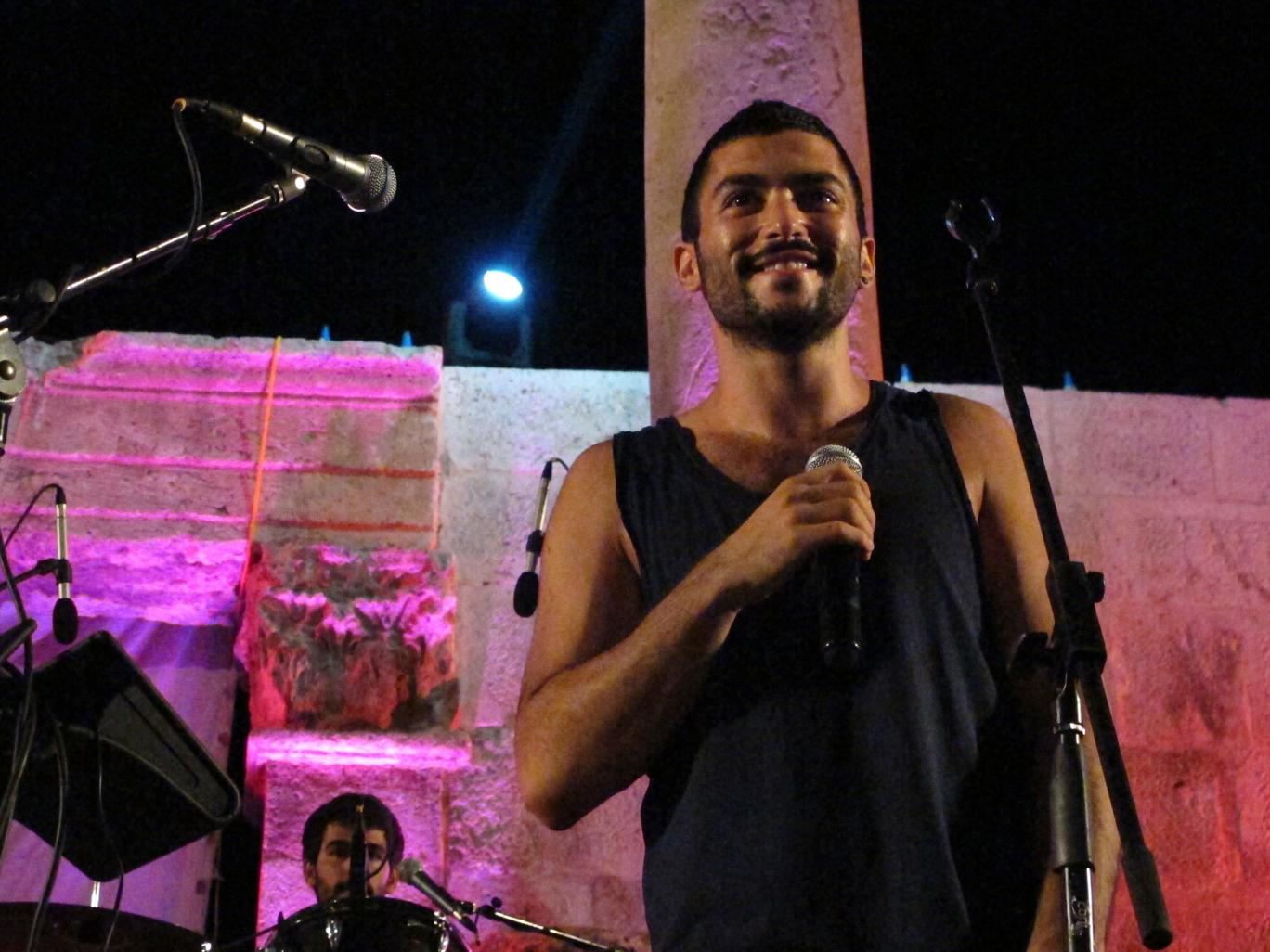 Hamed Sinno, lead singer and song writer of the Lebanese group Mashrou' Leila, whose fans were arrested AP