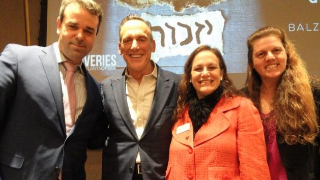 From left) Tomer Zvulun, Tom Key, Rebecca Stapel-Wax and Andrea Videlefsky form the panel discussing Paragraph 175 on March 14 at the Center for Civil and Human Rights.