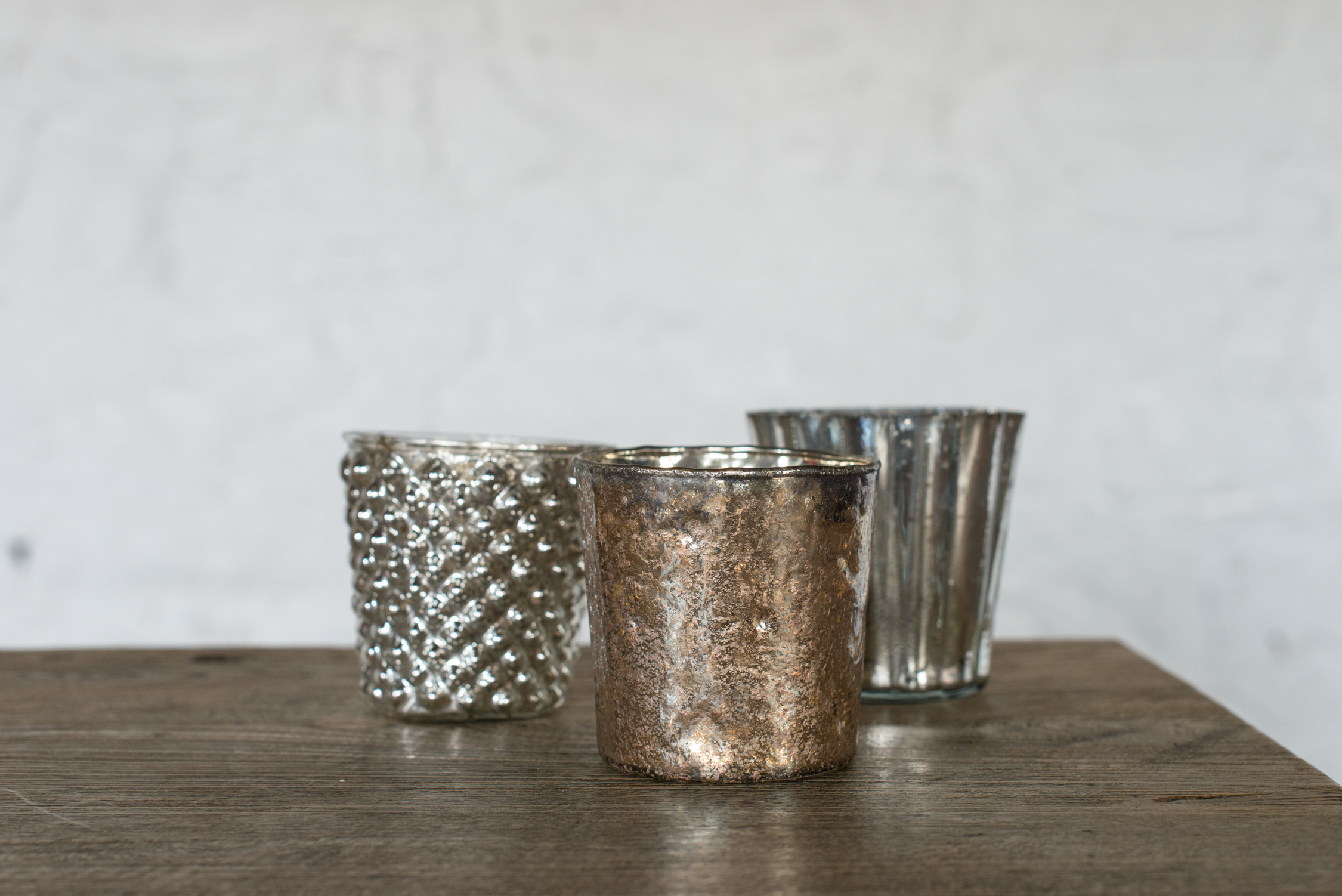 Mercuried Glass Tealight Holders (Mid-Size//Varied)