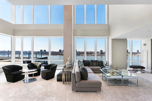 Dramatic one of a kind 6 bedroom, 7.5 bathroom duplex with massive terrace, panoramic Hudson River views & city views and private pool! Yes, a private pool!  www.TheMagnaniTeam.com #luxuryhomes #luxurylifestyle #nycrealestate #nyc #ballerlife #privatepool #dreamhome #luxuryliving #luxurylistings #realestateagent #homedesign #realestateforsale