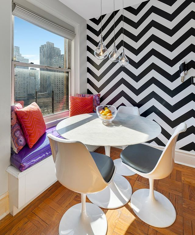 A perfect breakfast nook to start your day!  Come see this sun-drenched, 2 bedroom, 2 bathroom designed by Rosario Candela.  This well appointed pre-war has brilliant and dazzling light throughout the day along with open city views!  #breakfastnook #banquetteseating #nyc #newyorkrealestate #nycrealestate #luxury #upperwestside #uws #designerhome  www.TheMagnaniteam.com