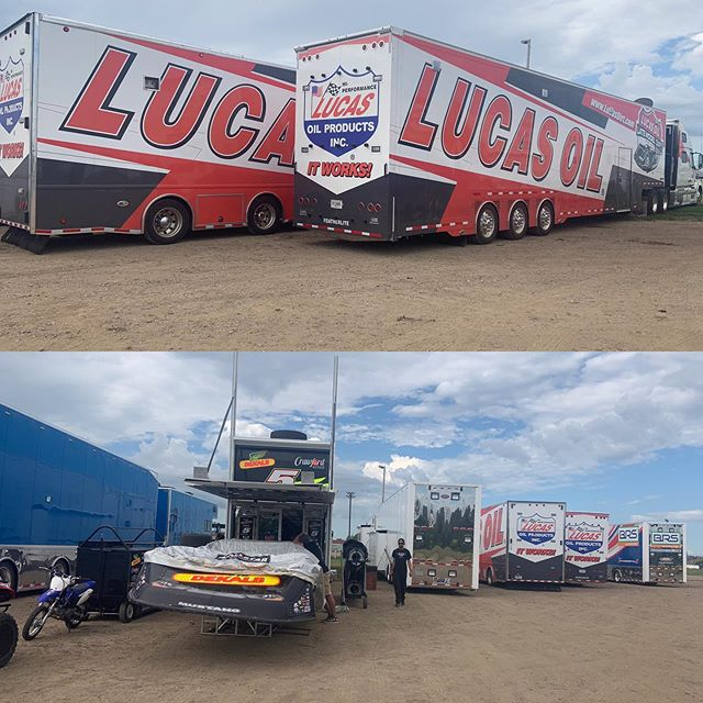 It's RACE DAY!!!! @lucasdirt Oil Late Model Dirt Series Bullet SportsWear Shootout!!! Haulers are starting to pull in!!! See you all tonight!!!!