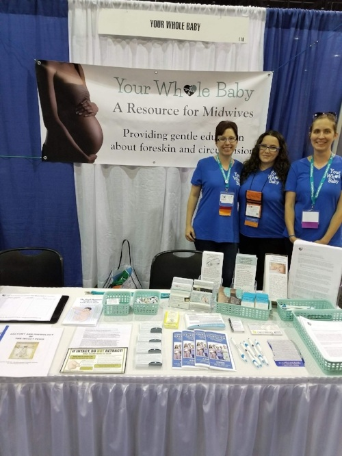 YOur Whole Baby representatives at the American Colege of Nurse-Midwives' Annual Meeting in savannah, Ga, May 2018