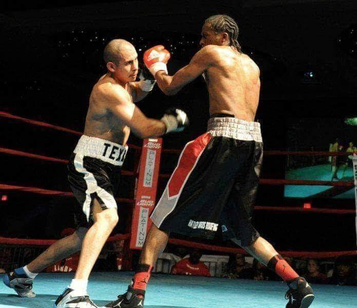 Jose competes in a boxing match