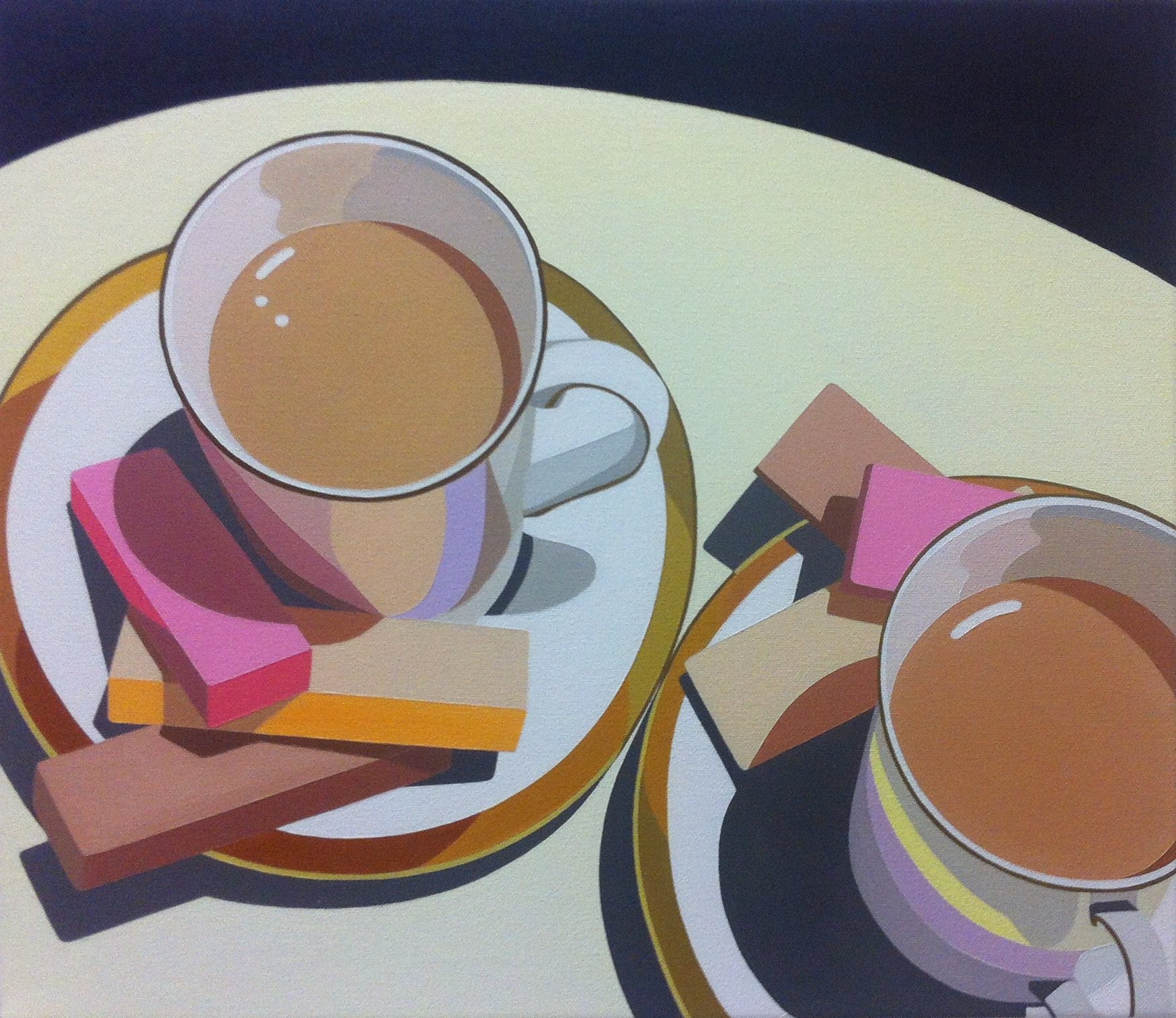 Tea cups and wafers