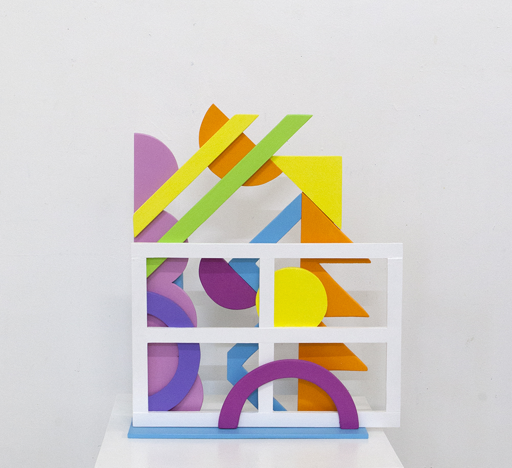 Sculpture with window frame