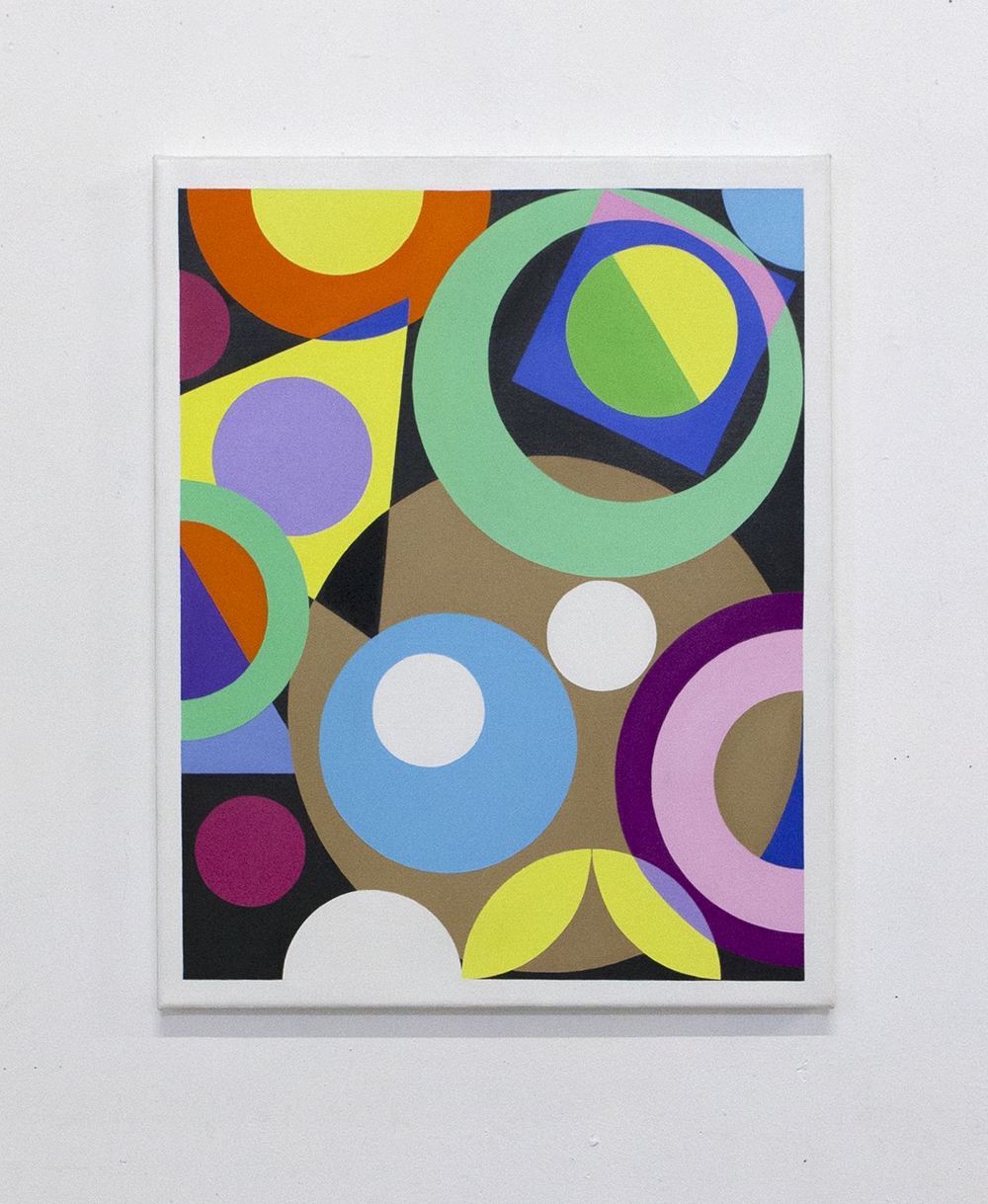 Abstract Painting with white dots