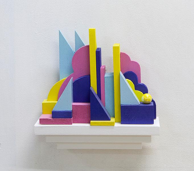 Wall sculpture #4 (purple)