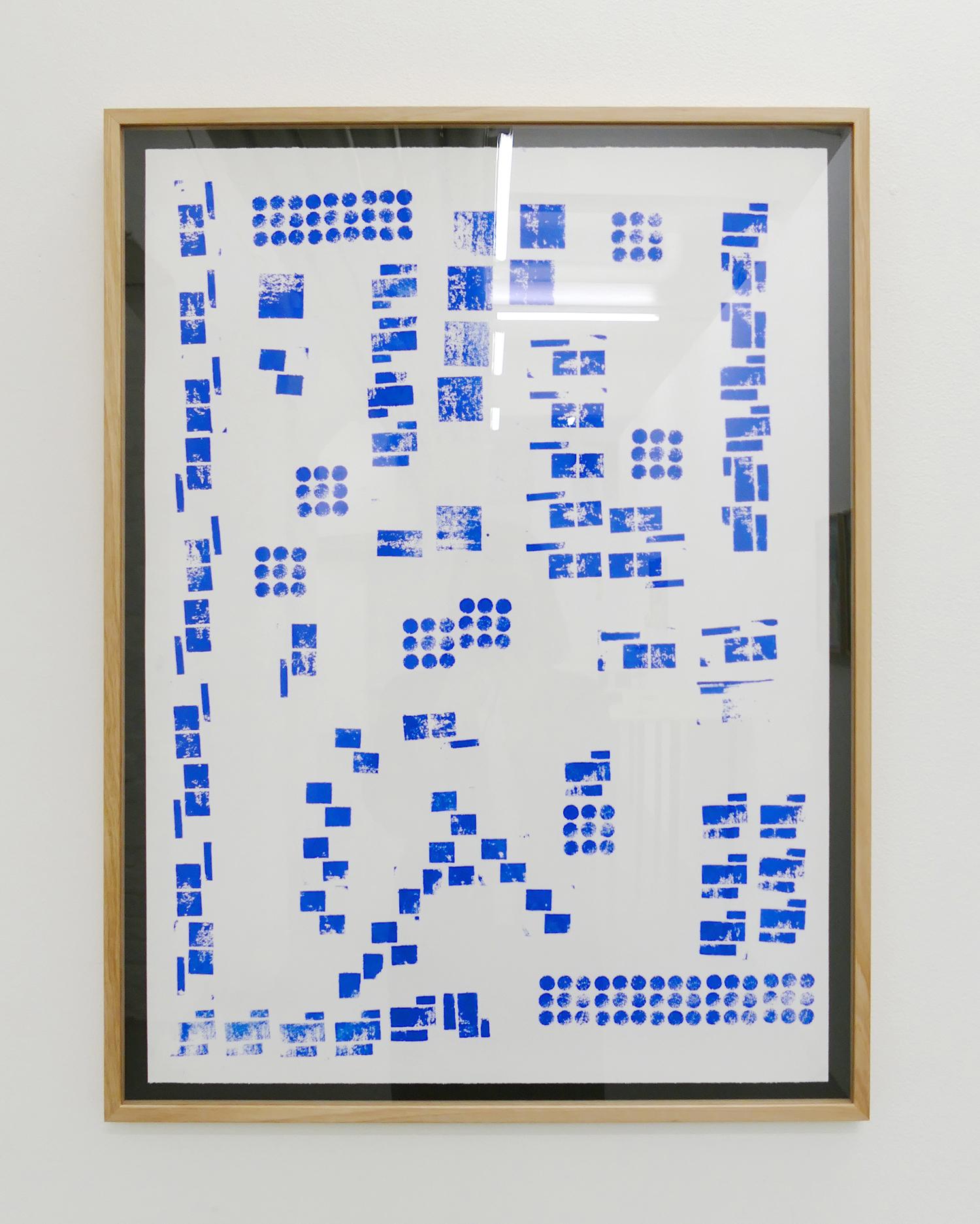 Hardbody Sculpture (Block Print – Blue)