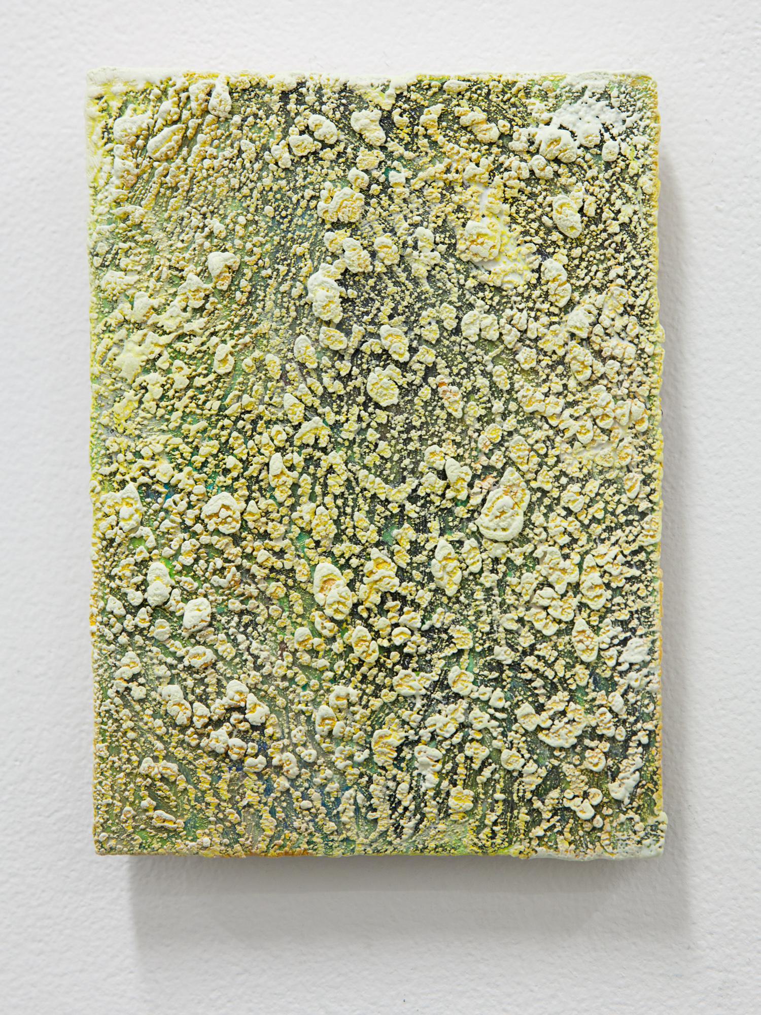 Accretion buildup painting (golden rough)