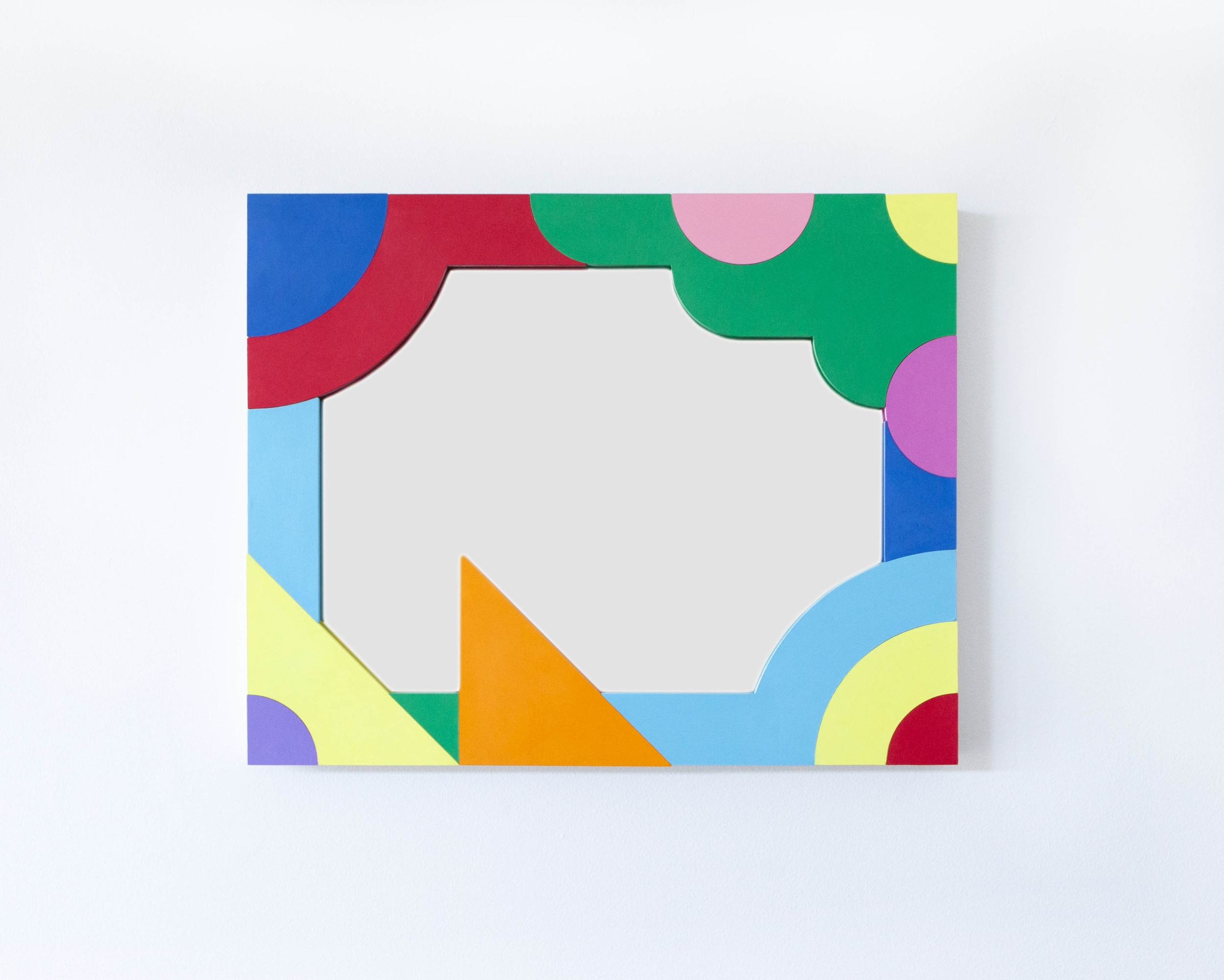 Mirror with a fruit tree and other abstract shapes #2