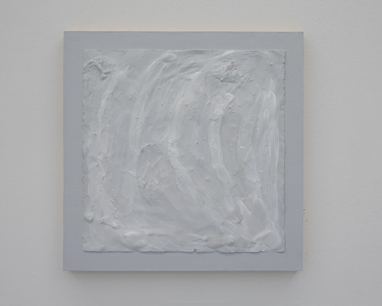 Sean Bailey - Efface, 2019hydrostone and acrylic painton linen board30 x 30cm$1200Enquire >>