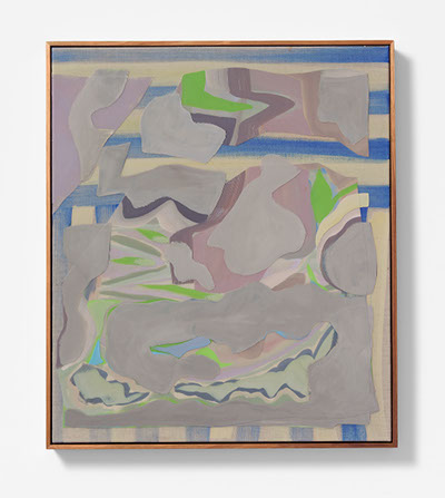 Kate Tucker - Say/ unsay, 2016acrylic, oil on patchwork linen71 x 61 cm, 73 x 63 cm framed$3200Enquire >>