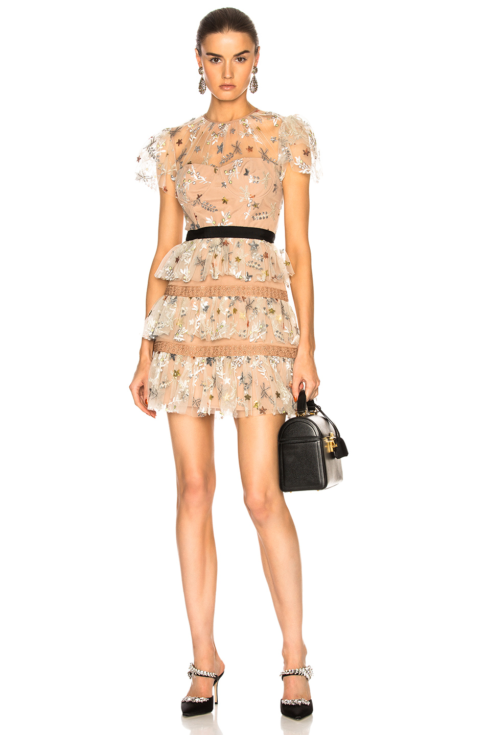 Self-Portrait - Star Mesh Tiered Dress$510 - AT FORWARD BY ELYSE WALKER