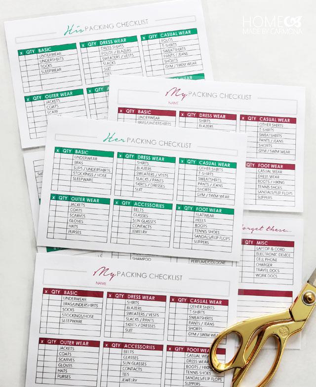 Make A Checklist -