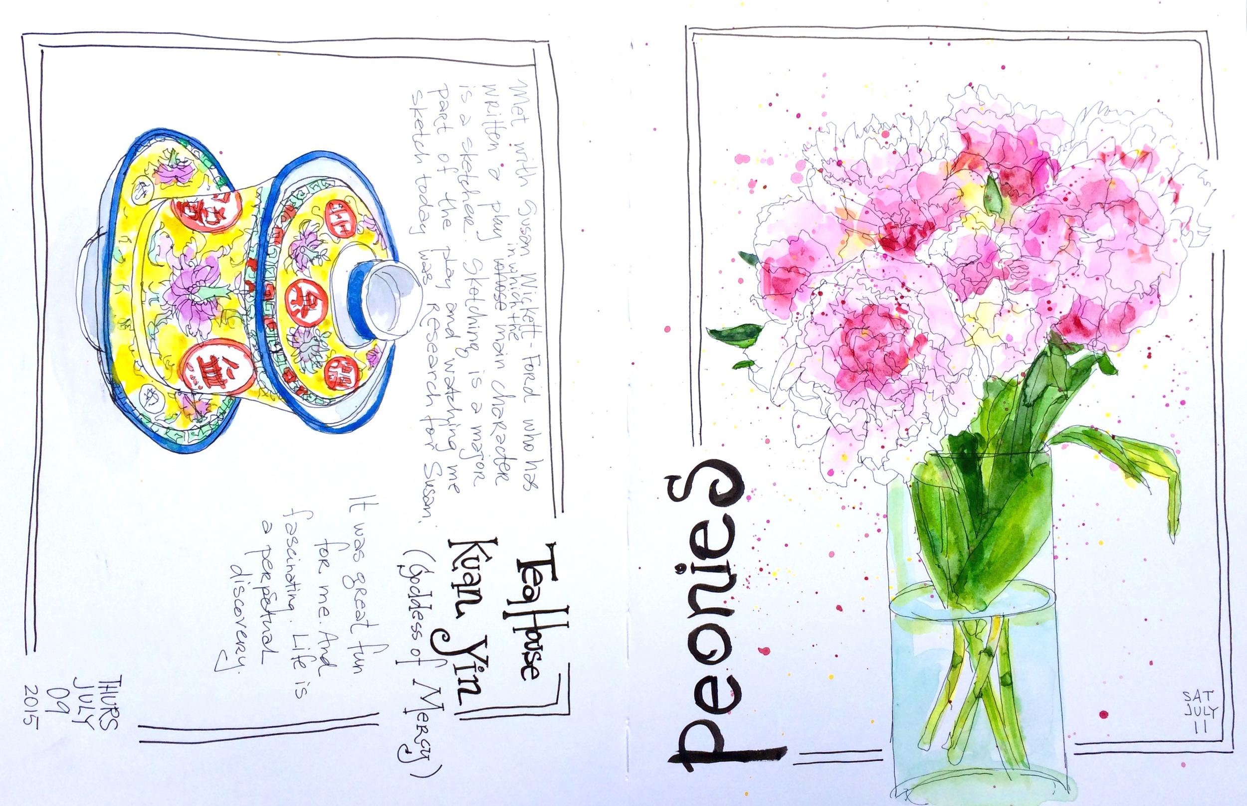 Last spread in my sketchbook. Next!