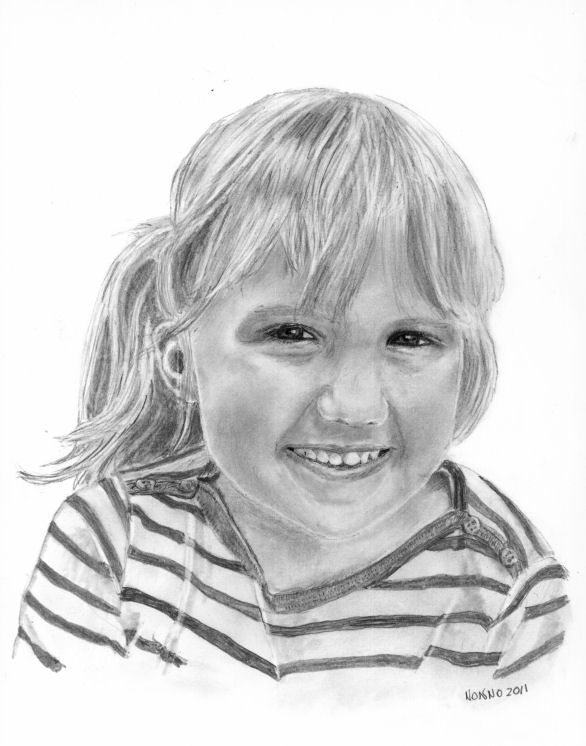 """Giordana Mia""  2011. Giordana Adele Coccia.   Our granddaughter .Age 4 in portrait. Now 8 and entering third grade."