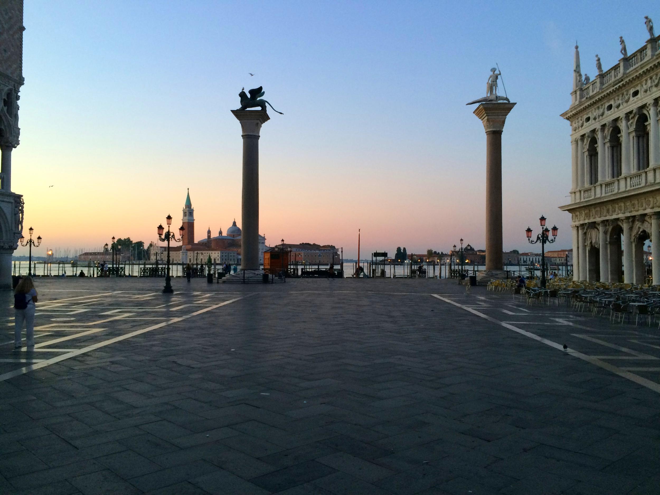 Sunrise in Saint Mark's Square