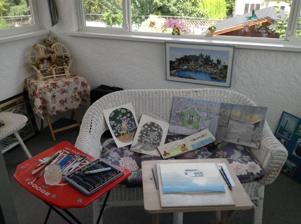 Diana Wagner  Here's a little peek into my sketchers corner