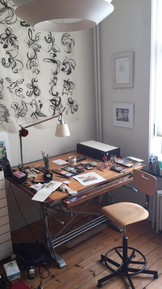 Barbara Luel Here's my drawing table