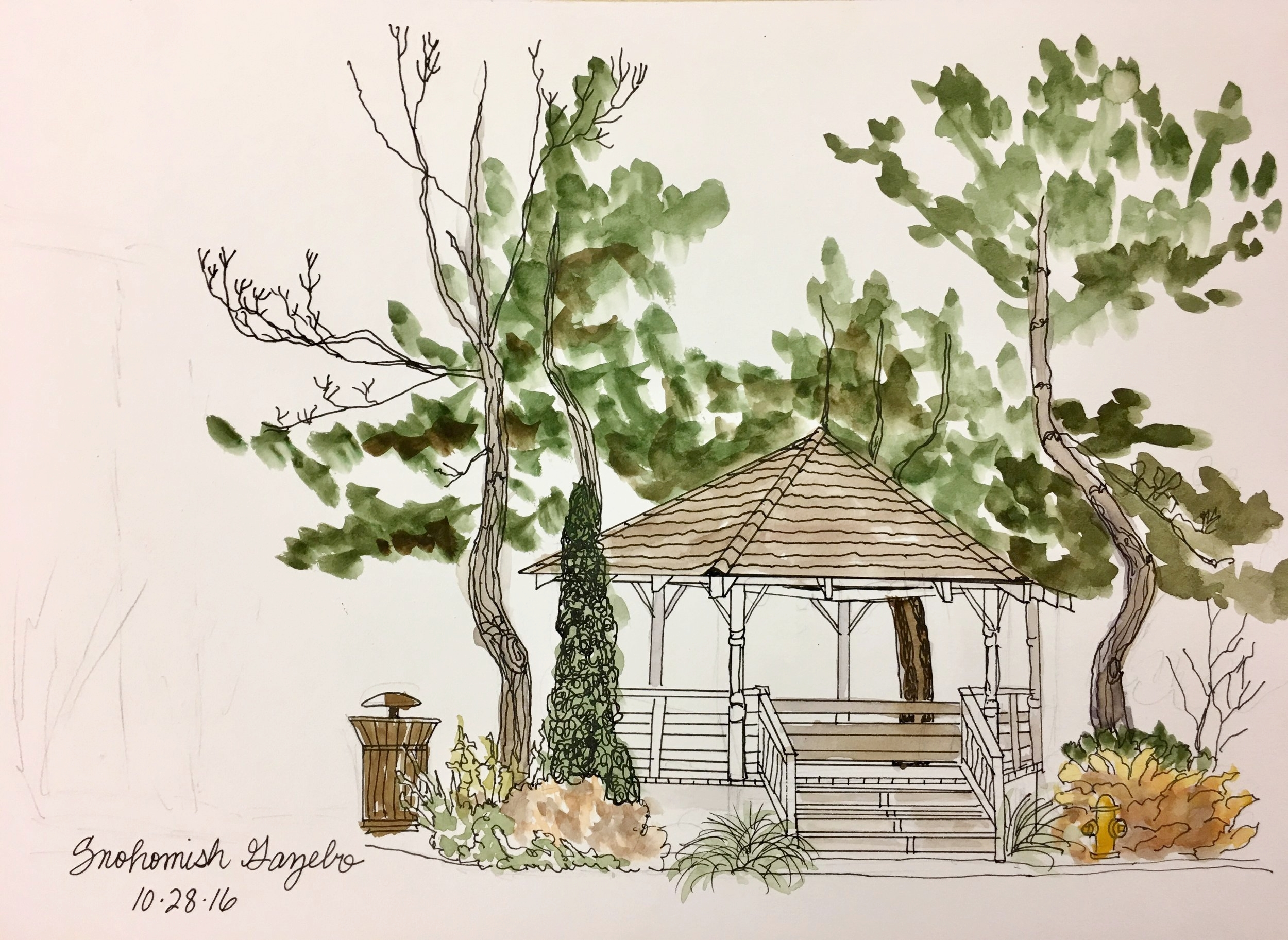Sketch by Beverly Anderson