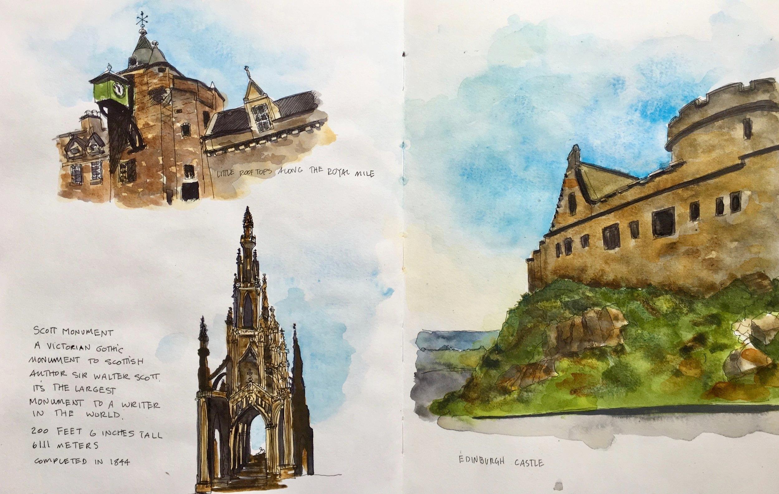 Scenes from our touring through Edinburgh.