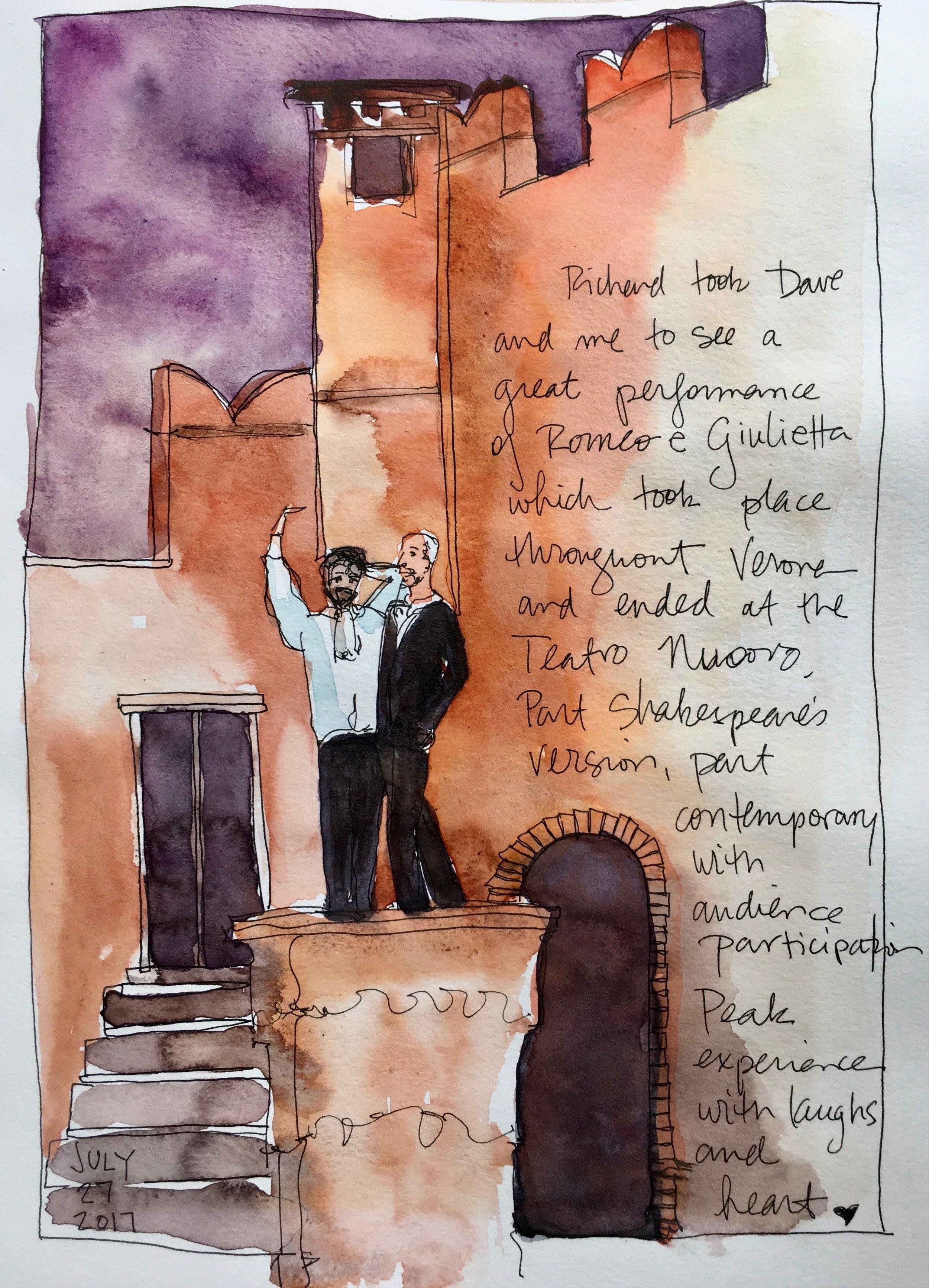 Live performance of Romeo e Giulietta in Verona. Fantastic!