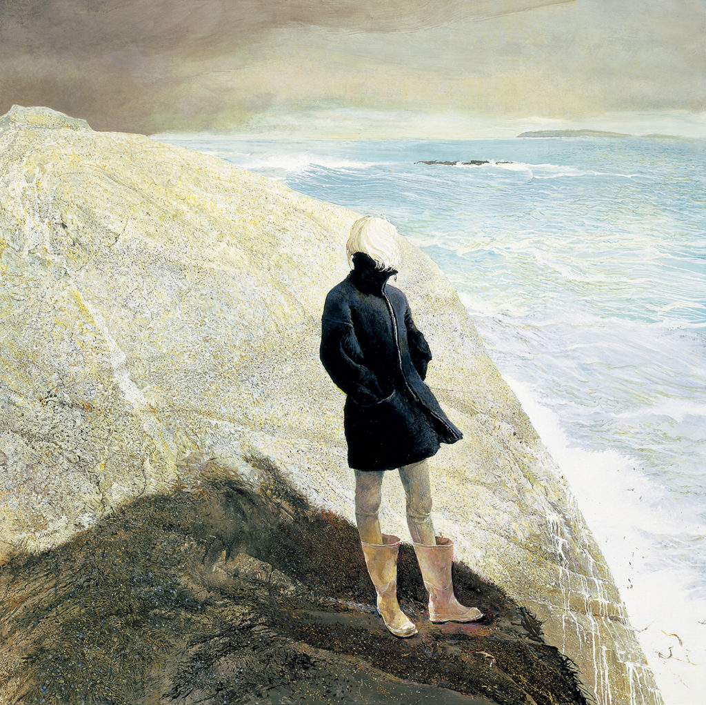 Andrew Wyeth (American, 1917-2009), On the Edge, 2001, Tempera on panel, Bank of America Collection, © 2017 Andrew Wyeth / Artists Rights Society (ARS), New York