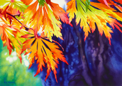 Fall of the Leaves  by Elizabeth Kincaid,22 x 29 in