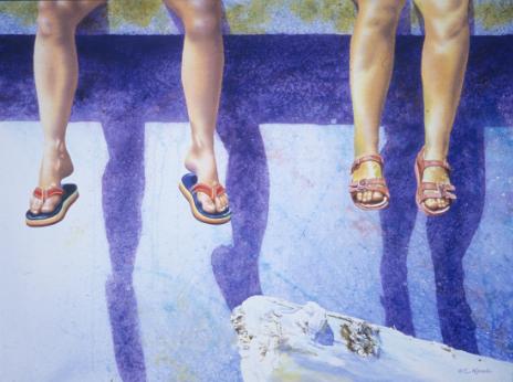 Friends  by Elizabeth Kincaid,23 x 39 in