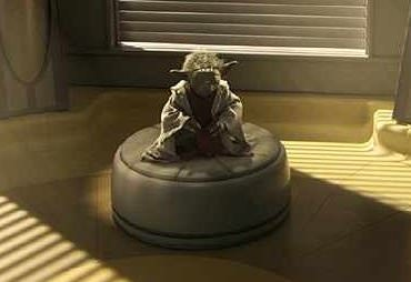 Yoda meditating on the Light side of the Force