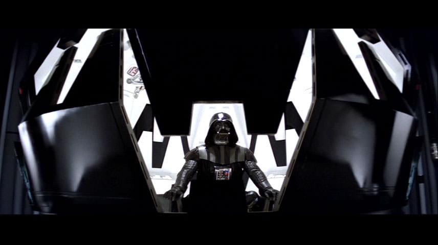 Darth Vader meditating on the Dark side of the Force