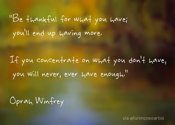 Gratitude Quote by Oprah