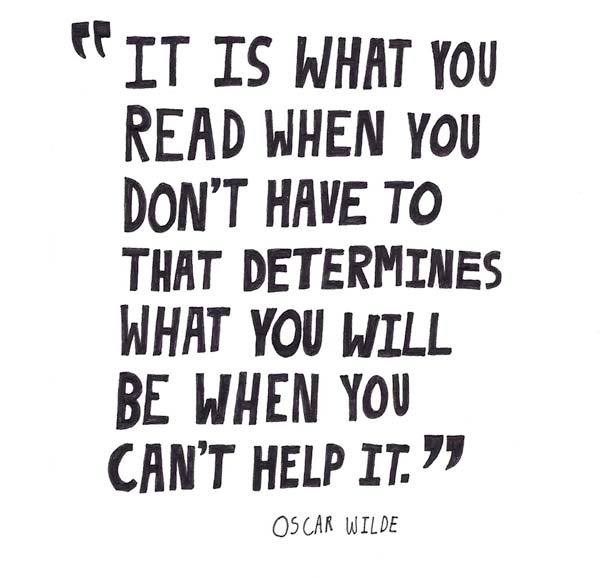 Oscar Wilde on reading