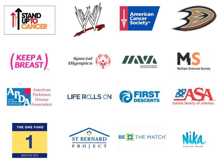 Just a few of the brands that Travis has worked with