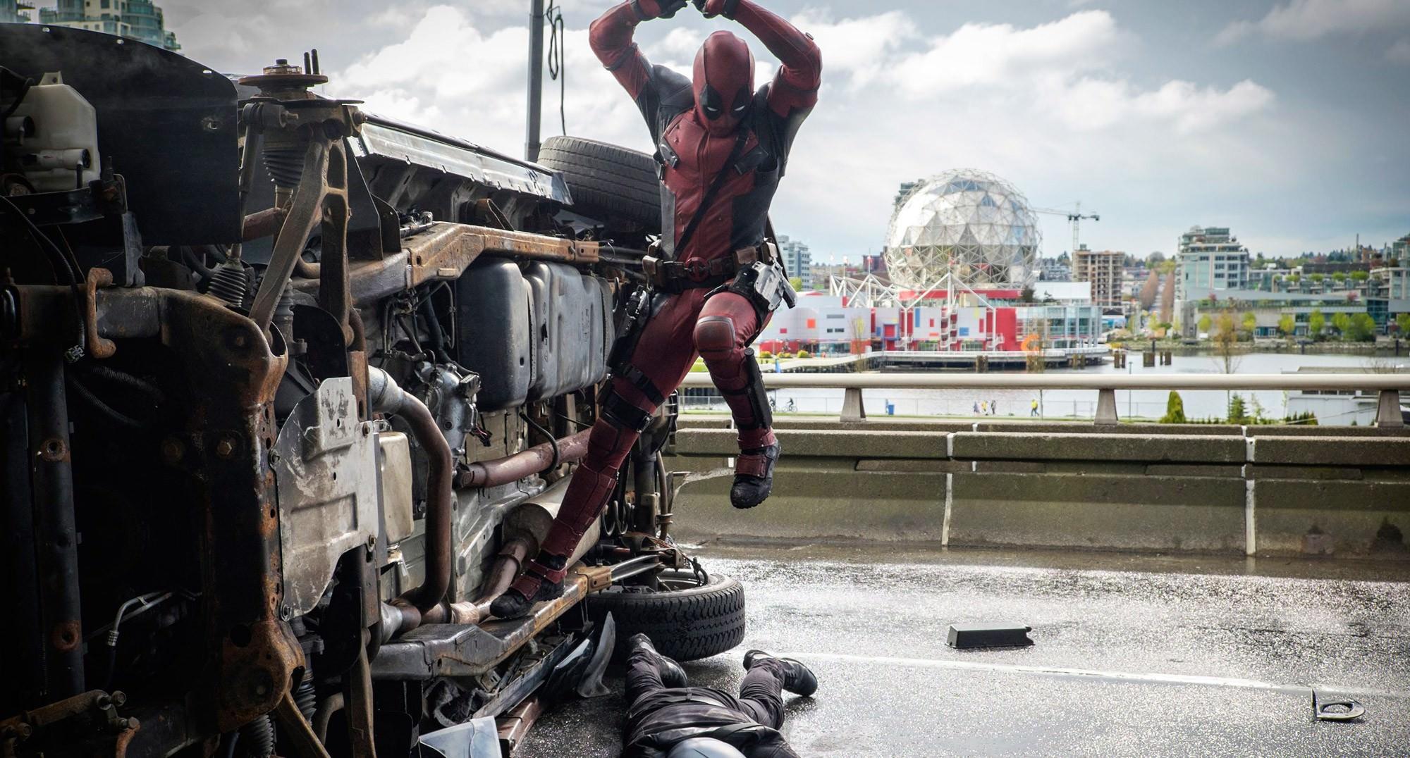 Deadpool action scene