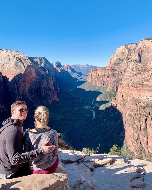 Fresh air, perfect weather, and a beautiful view (Zion looked nice too)