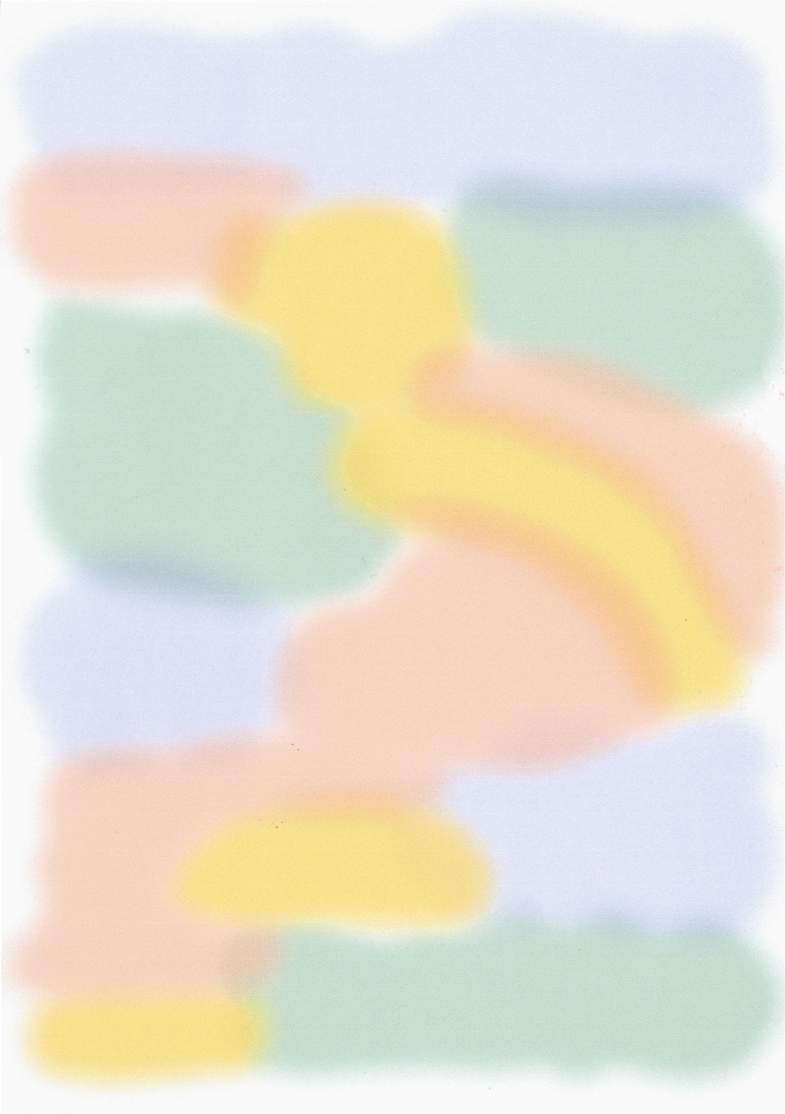 Spray bubble rainbow illustration