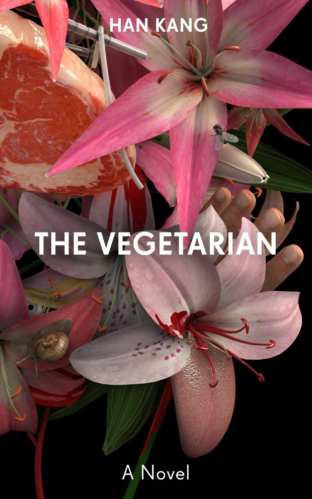 The Vegetarian  by Han Kang, design by  Tom Darracott