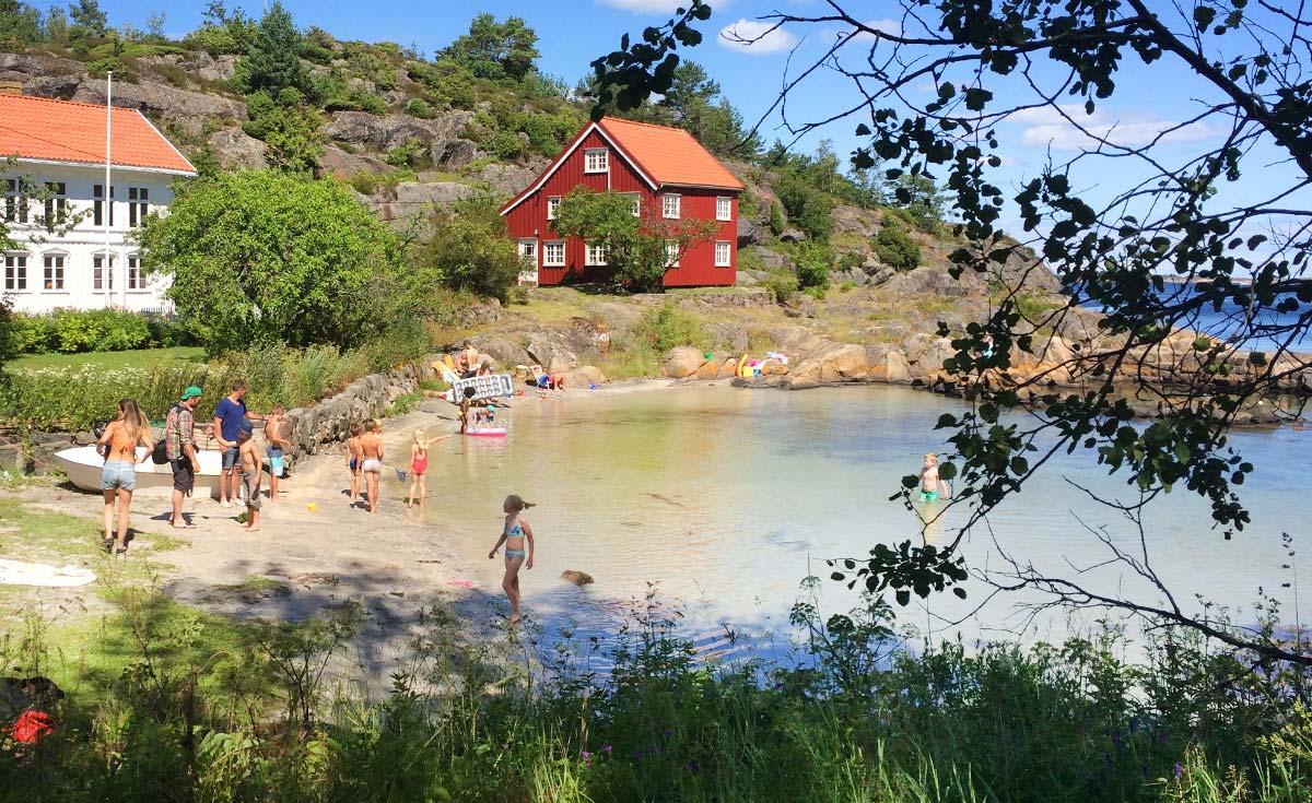 Vakkert på Sandøya. Foto: Linn Zwilgmeyer.