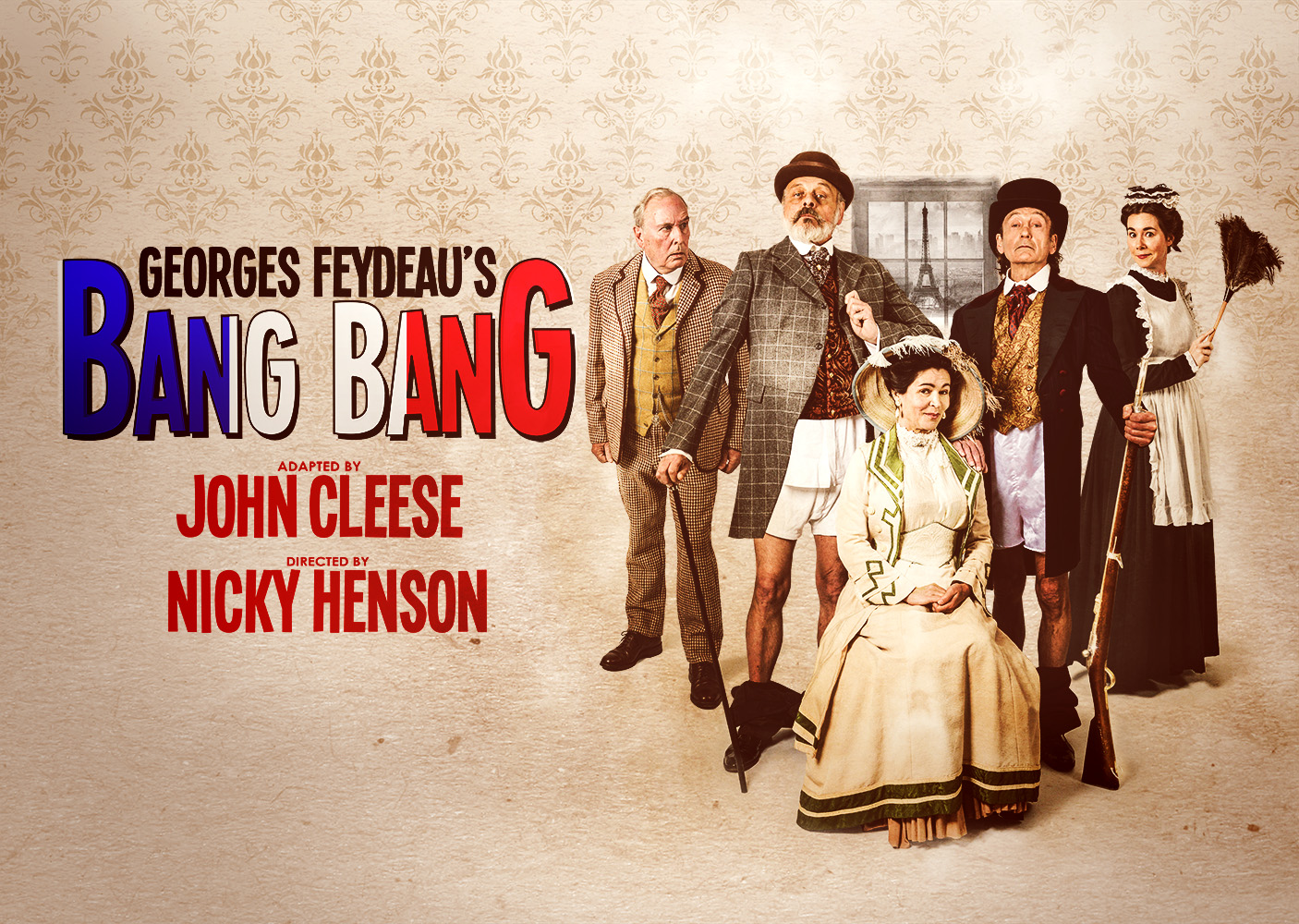 BANG BANG - Thrilled to have been asked to compose the music for this new production of the Feydeau farce 'Bang Bang'. Adapted by John Cleese and directed by Nicky Henson, it opens at Colchester Mercury Theatre on 1st March!!