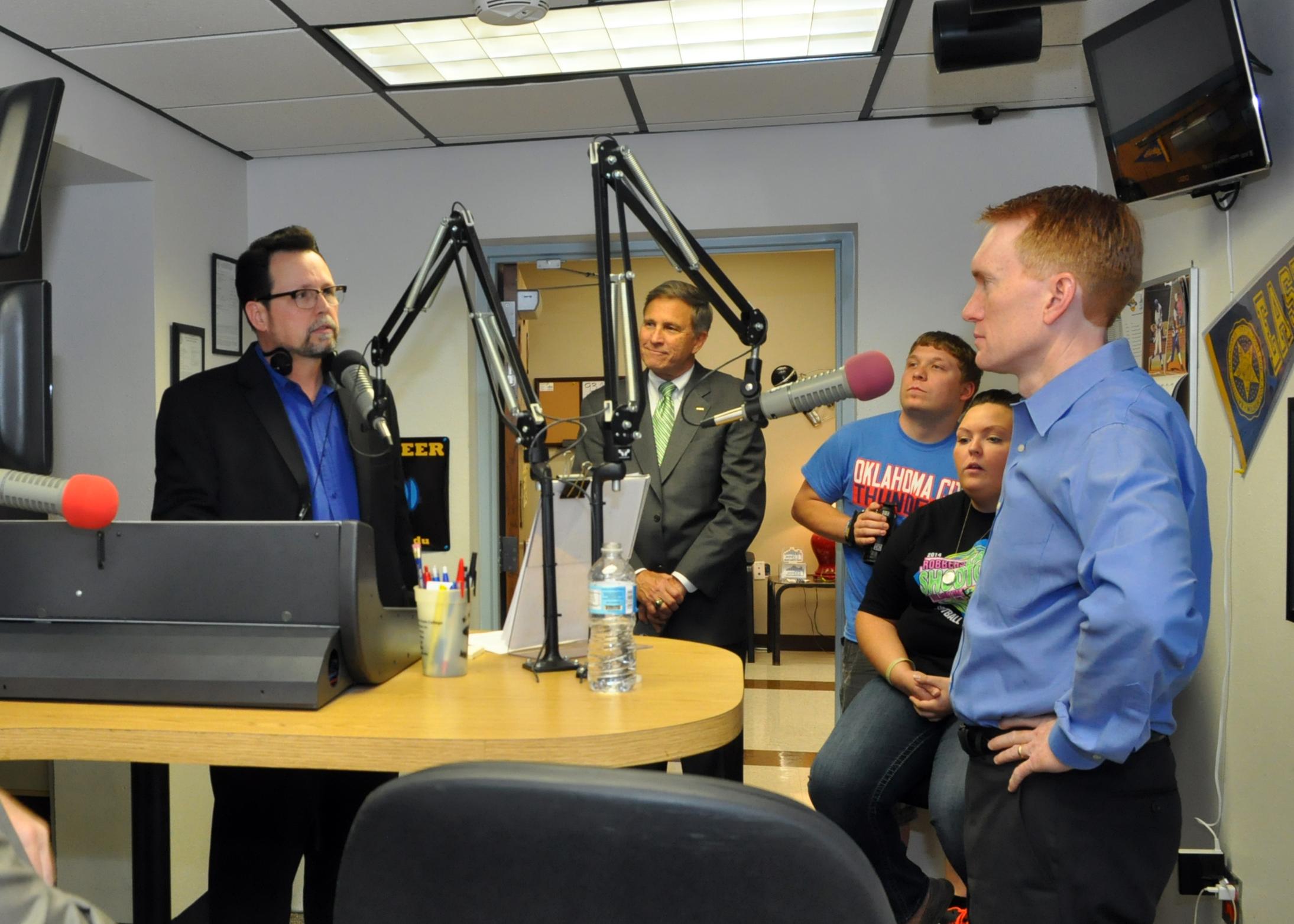 U S Senator Lankford on air with Dougo.jpg